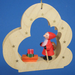Santa Sleigh Cloud Ornament