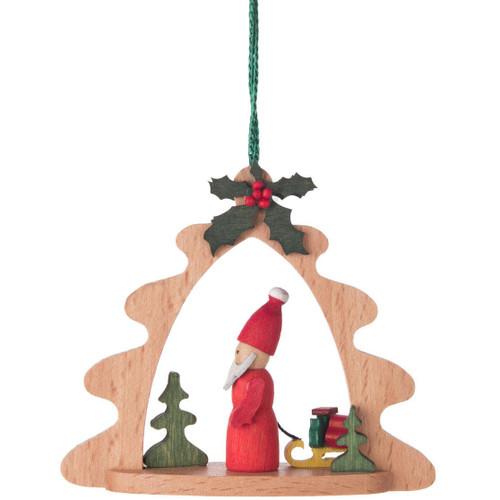 Santa Tree Frame German Ornaments
