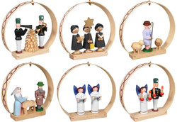 Seiffen Christmas Ornaments Set Six