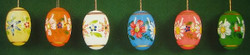 Six Beautiful Painted Easter Eggs Set