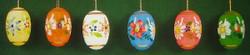 Six Beautiful Painted Easter Eggs Set