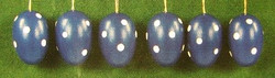 Six Blue White Dotted Eggs Ornaments