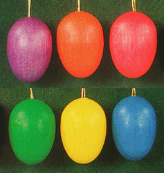 Six Colorful Festive Eggs Ornaments