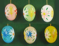 Six Colorful Gala Eggs Ornaments
