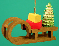 Sled Gifts Christmas Ornament