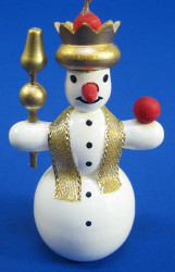 Snowman Crown Christmas Ornament
