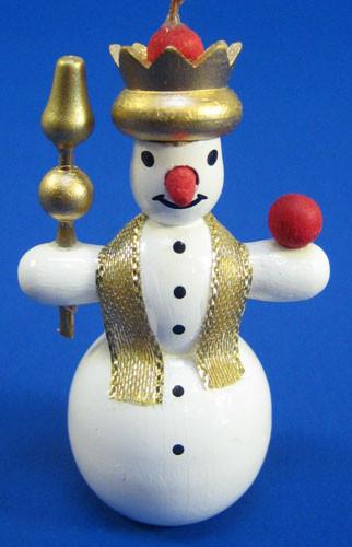 Snowman Crown Christmas Ornament