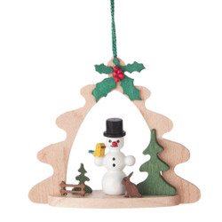 Snowman Tree Frame Ornament