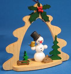 Snowman Tree Frame Ornament