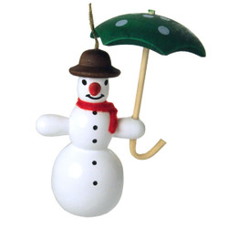 Snowman Umbrella German Ornament ORR133X44