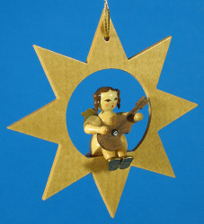 Star Angel Guitar Christmas Ornament