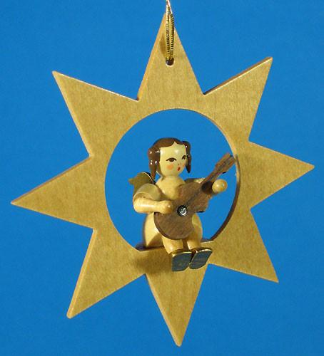 Star Angel Guitar Christmas Ornament