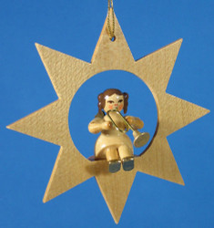Star Angel Horn Christmas Ornament