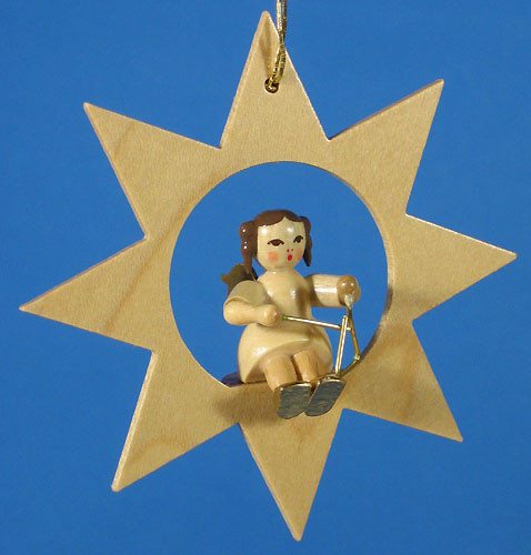 Star Angel Triangle Christmas Ornament