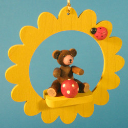 Teddy Bear Christmas Tree Ornament Yellow