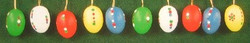 Ten Colorful Dotted Eggs Ornaments