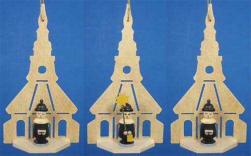 Three Carolers Church Ornaments