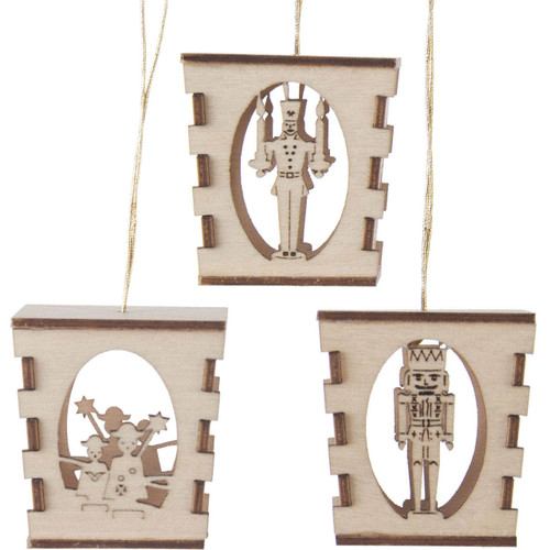 Three Miniature German Laser Cut Lantern Ornaments ORD199X306