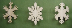 Three Snowflakes Dimensional Ornaments