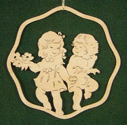 Two Flower Girls Ornament