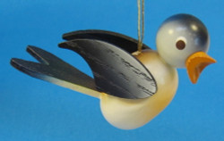 Wooden Blue Bird Ornament