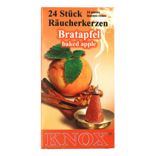 Knox Baked Apple German Incense 24 per Box IND146X06XBAKEDAPL
