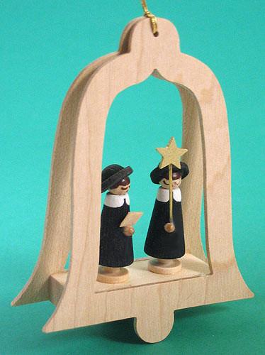 Carolers Framed Bell German Ornament