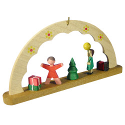 Children Christmas Morning German Ornament ORR134X75