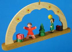 Children Christmas Morning German Ornament