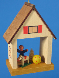 Children Toy House German Christmas Ornament