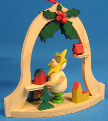 Elf Star Painting Bell Frame Ornament