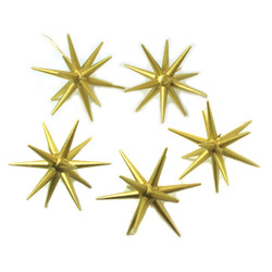 Five Golden Pointy Stars German Ornaments ORD199X235