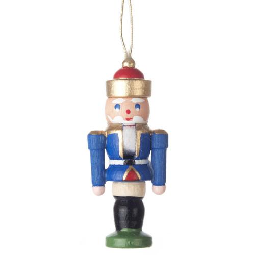 Mini Nutcracker King German Ornament Blue ORD074X114FB