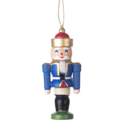 Mini Nutcracker King German Ornament Blue ORD074X114FB