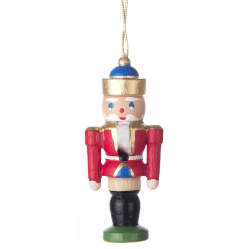 Mini Nutcracker King German Ornament Red ORD074X114FR