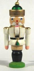Mini Nutcracker King German Ornament White ORD074X114FW