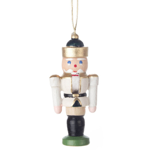 Mini Nutcracker King German Ornament White ORD074X114FW