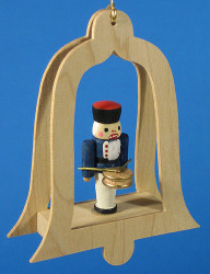 Nutcracker Drummer Bell Christmas Ornament