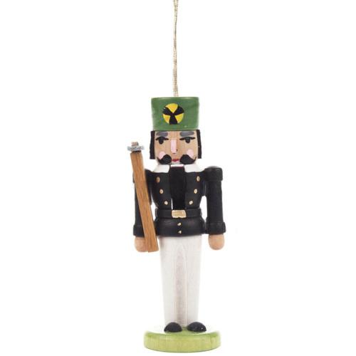 Nutcracker Miner Ornament Black