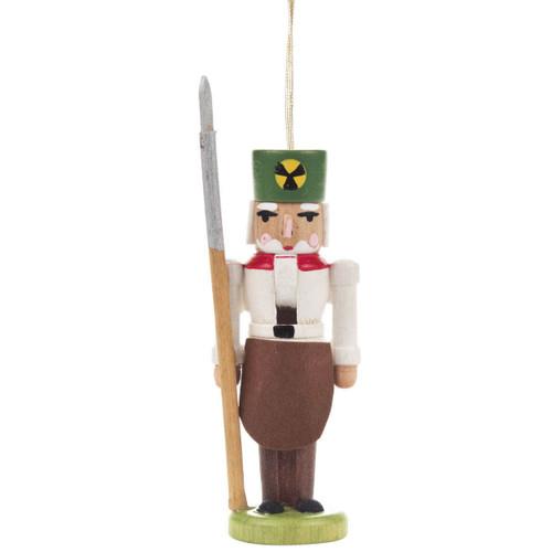Nutcracker Miner Ornament White
