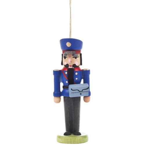 Nutcracker Postman Ornament Blue