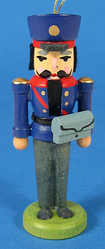 Nutcracker Postman Ornament Blue