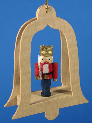 Nutcracker Red Bell Christmas Ornament