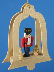 Nutcracker Red Tree Bell Christmas Ornament