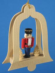 Nutcracker Red Tree Bell Christmas Ornament
