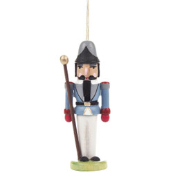 Nutcracker Sentry German Ornament Gray ORD074X026X2FG