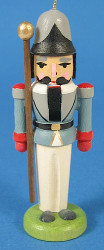 Nutcracker Sentry Ornament Gray