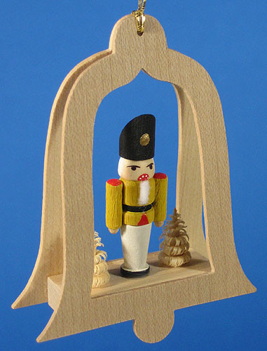 Nutcracker Tree Bell Christmas Ornament