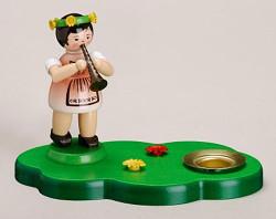 Flute Girl Candle Holder