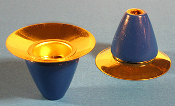 Pyramid Candle Holder Blue 18mm Christkindl Markt German